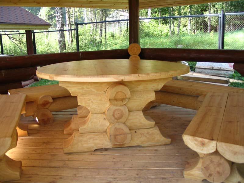 Мебель для дачи из бревна своими руками 11